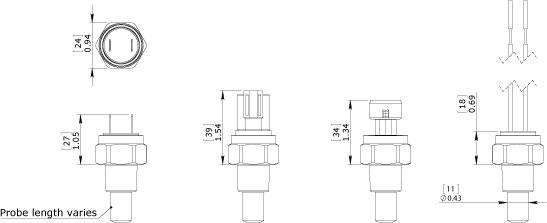 S5TAF S7TAF Temperature Switch Dimension